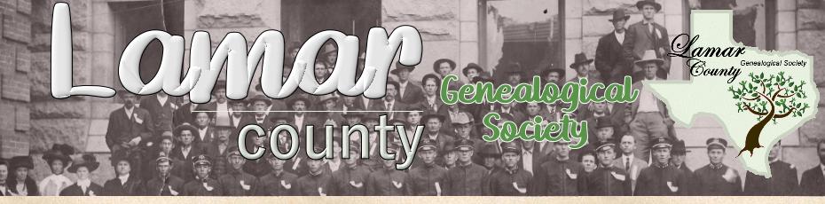 Genealogical Society Information: Lamar County, Texas ...